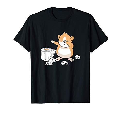 Hamster Toilet Paper Funny Dabbing Dwarf Hamster Lover Camiseta