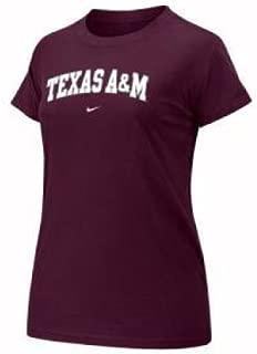 Nike Texas A&M Aggies Women's S/s Arch Crew Tee