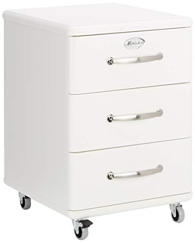 Tenzo 5273-005 Malibu - Designer Rollcontainer 60 x 41 x 46 cm, MDF lackiert, weiß