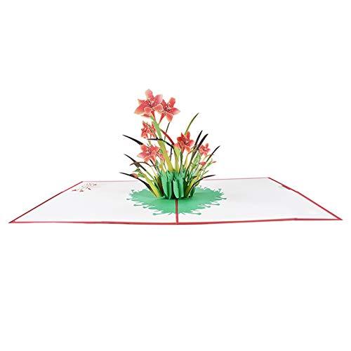 BILINGSLEY Popup-Karte-3D-Karte , Muttertagsgrußkarte ,Blumenkarte ,Geburtstagskarte, Grußkarte mit Umschlag Valentinstag Karte, Hochzeitsgeschenk, Graduierung Karte, Hochzeitseinladung