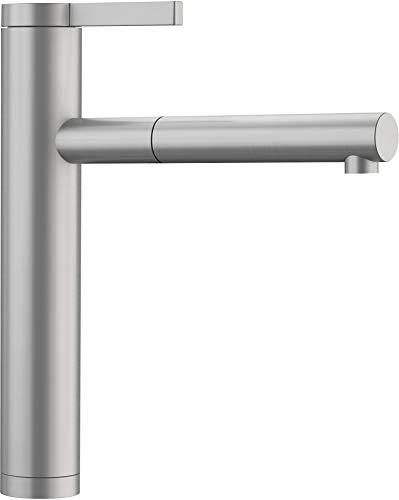 Blanco Linee-S mit ausziehbarer Brause massiv Edelstahl