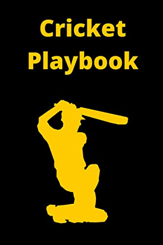 Cricket Playbook: 120 Page Coach Notebook with Field Diagrams for Drawing Up Plays, Creating Drills, and Strategy Planning | Cricket For Dummies score book for logbook record