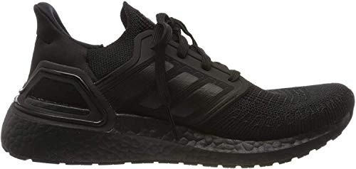 adidas Women's Ultraboost 20 W Running Shoe, Core Black Grey Four F17 Solar Red, 3.5 UK