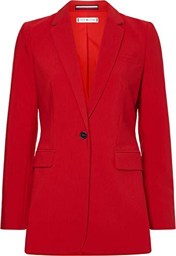 Blazer Roja Mujer Marca Tommy Hilfiger