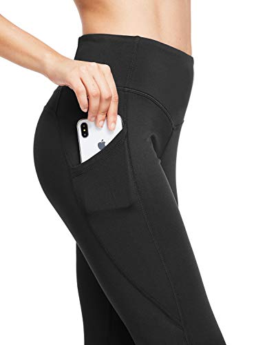 Product Image 2: BALEAF Women's Fleece Lined Leggings Winter Yoga Leggings Thermal High Waisted Pocketed Pants Black M