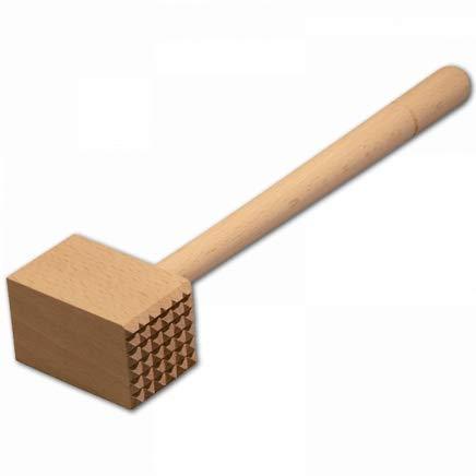 HOFMEISTER® Fleischhammer, 100% EU-Naturprodukt, 28 cm, ohne Plastik, Stabiler Fleischklopfer klopft jedes Schnitzel weich, massiver Fleischplattierer, Schnitzelklopfer cm