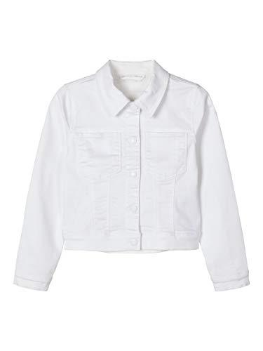 Name It Nkfatinna TWI Jacket CD Giacchetto Denim, Bright White, 128 Bambina