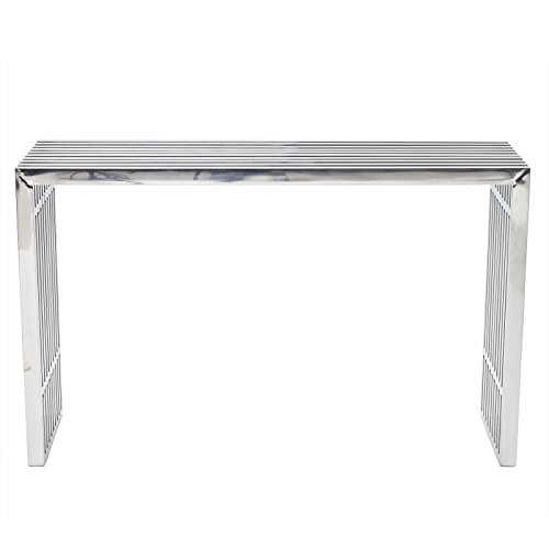 Modway Gridiron Contemporary Modern Stainless Steel Console Table