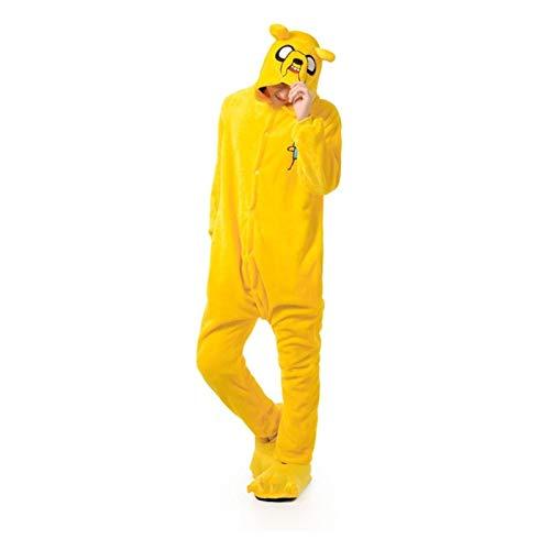 7MR Pijama Adulto Unisex Pijamas de Perro Amarillo Adulto Adulto Suave clido Pijama Festival Invierno diversin diversin Mono de Dibujos Animados (Color : Jake, Size : Small)