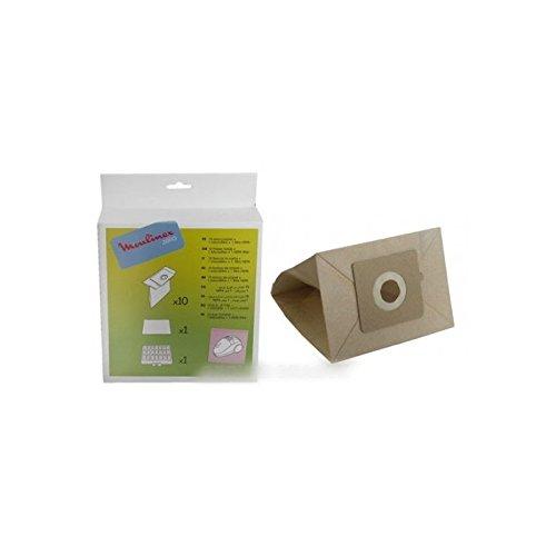 Moulinex stofzuigerzak (X10) + 1 HEPA-filter voor stofzuiger Zelio Moulinex