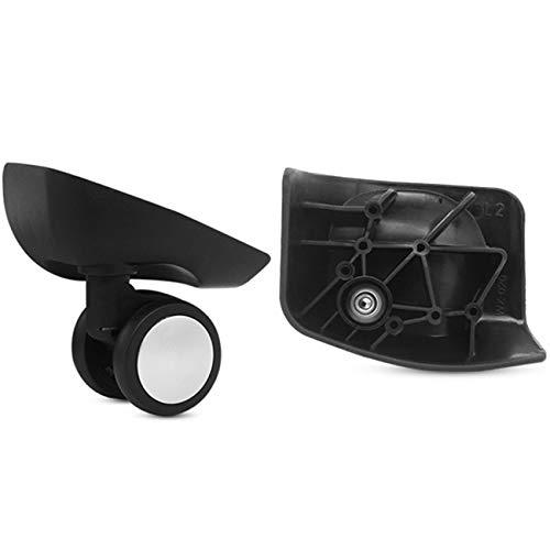 Gris un par universal rueda de repuesto de equipaje ruedas para maletas de viaje reparación de caso DIY (YF-W086S)