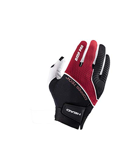 HEAD Leather Racquetball Glove – AMP Pro Copper Tech Glove for Right & Left Hand