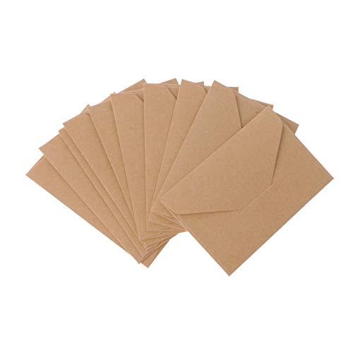 50 unids/lote Craft Sobres de papel vintage estilo europeo sobre para tarjetas, álbumes de recortes, regalo de regalo de papel de regalo de Navidad niños
