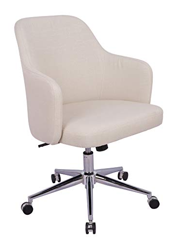 AmazonBasics Classic Adjustable Office Desk Chair - Twill Fabric, Beige, BIFMA Certified