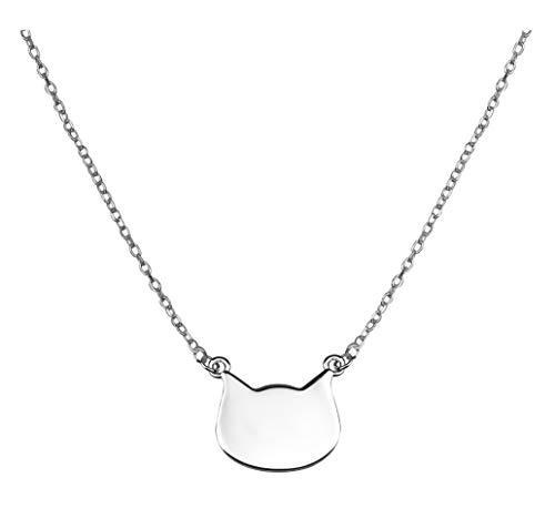 SOFIA MILANI - Damen Halskette mit Katze Anhaenger - Aus echtem 925 Sterling Silber - 50274