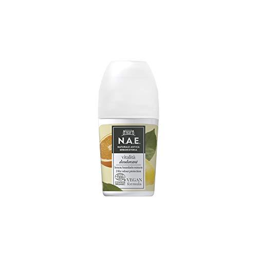 N.A.E. Deodorante Vitalità, con Estratti di Foglie di Limone e Mandarino Biologici, 50 ml