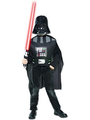 Darth Vader Boxset, Kostüm mit Maske und Lichtschwert, Größe 122-152