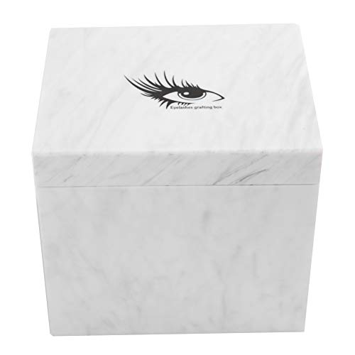 Wimpern Zubehör, 10 Schichten Wimpernverlängerung Aufbewahrungsbox Falsche Wimpern Display Halter Fall Makeup Organizer(Weiß)