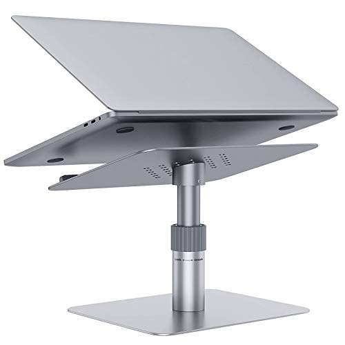 Adjustable Laptop Stand for Desk,GIKERSY Laptop Riser Adjustable Height [360-Rotating] Ergonomic Computer Stand Notebook Holder Compatible with MacBook Pro Air,Lenovo,Dell XPS,HP More 10'-17' Laptops