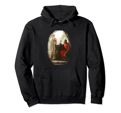 Jesús Mujer en el pozo A-090821 Sudadera con Capucha