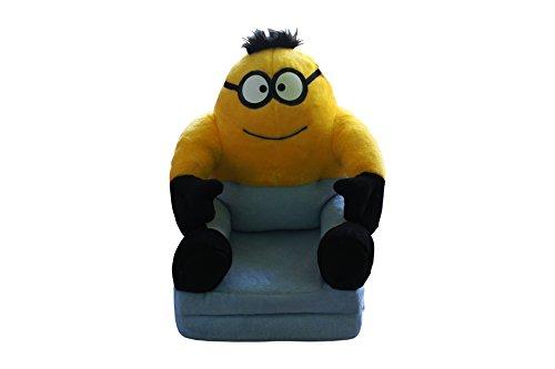 Sessel für Kinder Plüschtier Sitzkissen Sofa Bett Kindersessel (Minions)