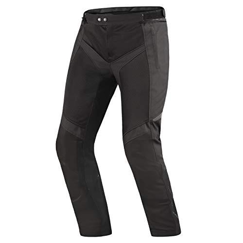 SHIMA Jet - Pantaloni da Motociclista Estivi da Uomo, in Rete, con Protezioni (Nero, L)
