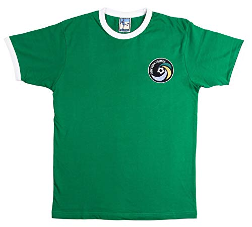 Old School Football New York Cosmos 1970s Fußball T Shirt Größen S-XXL Gesticktes Logo