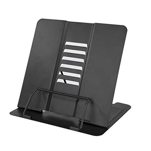 MaoXinTek Supporti per Libri da Cucina Metal Book Stand Lettura Porta Libri con 6 Altezze Regolabile per Ricettario iPad Document Musicale Leggio