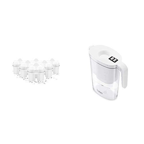 BWT Filtri per acqua con tecnologia brevettata al Magnesio Mg2+, Confezione da 5+1 filtri & Vida Filtro acqua per brocca 2.6L Bianco