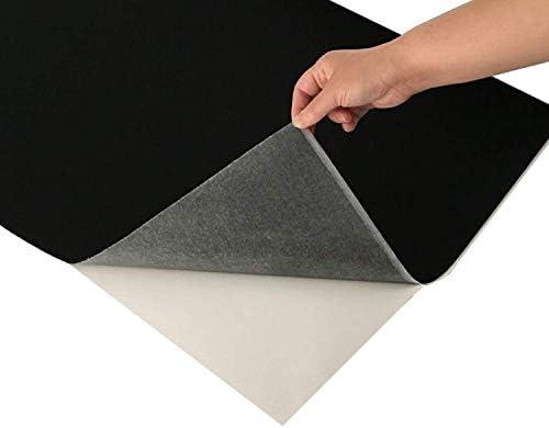 tonchean Automotive Carpet Upholstery Fabric 33 x 3 3Ft Car Replacement Underfelt Durable Black product image