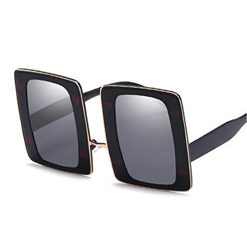 CHENG/ CHENG Sonnebrille One Piece Übergroße Sonnenbrille Frauen Big Frame Shield Sonnenbrille Männer Schwarz Shades