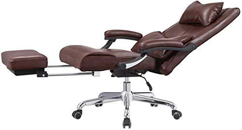 BeingHD Qualitätsbürostuhl, Bürostuhl mit Armlehne Schreibtisch Stühle, ergonomischer Bürostuhl Mittagspause Stuhl Pedal mit hohen Rückendrehstuhl Kopfstütze Computer-Schreibtisch-Gaming Chair