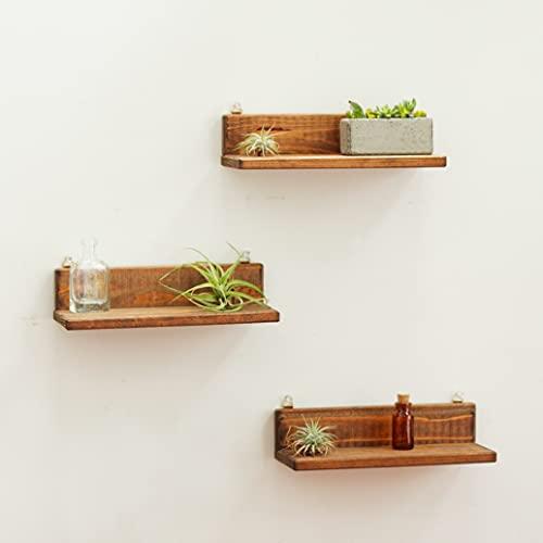 TIFF ウォールシェルフ 3台セット 幅24cm 日本製 神棚 壁掛け ラック 飾り棚 石膏ボード おしゃれ 壁 棚 傷つけない インダストリアル 無垢 木製