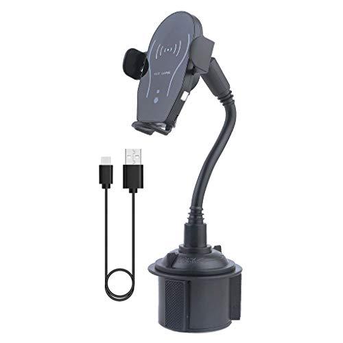Vfhdd Sensor infrarrojo automático de sujeción 10W coche taza Qi cargador inalámbrico teléfono montaje