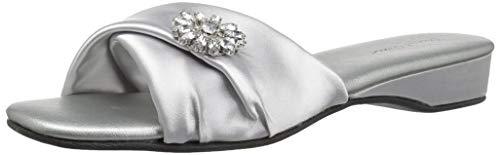 Daniel Green Women's Dormie Twist Slipper, Silver, 8 W US