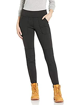Carhartt Women's Force Stretch Utility Legging (Regular and Plus Sizes), Deep Black, Medium