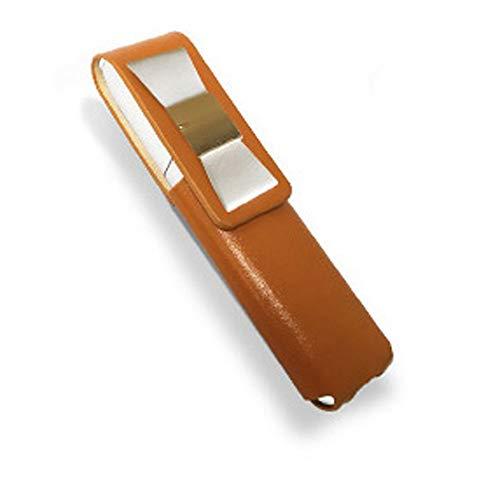 IQOS 3 MULTI 専用 アイコス3 リボン 本革 マルチ ケース (ライトブラウン/ホワイトリボン) iQOSケース シンプル 無地 保護 カバー 収納 カバー 電子たばこ 革