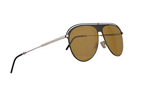 Dior Christian Dior0217S gafas de sol w / 59mm Lente de Brown 71C70 0217 0217 / S Dior0217 / S hombre Amarillo negro Grande