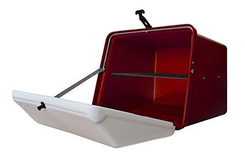 Portaequipajes Moto baúl Reparto Rojo/Blanco con Bandeja y Reflectantes homologados