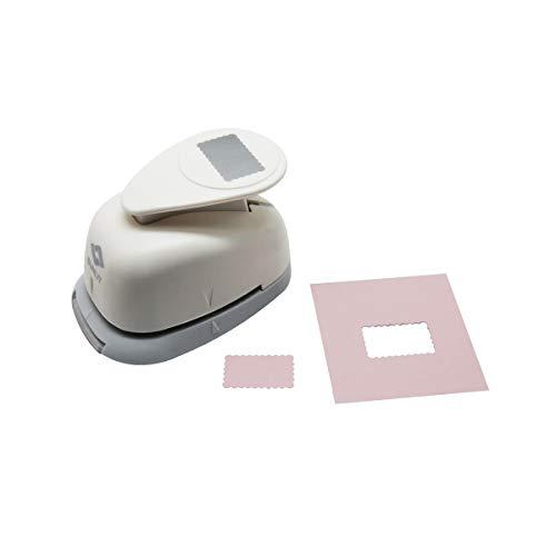 Bira - Perforadora rectangular festoneada para manualidades de papel, manualidades, álbumes de recortes, tarjetas, artes