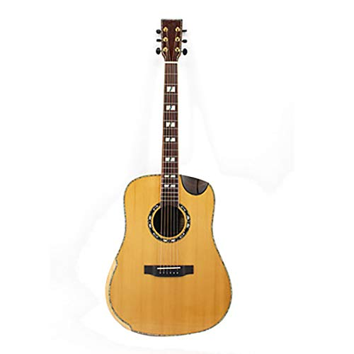 NUYI 41 Inch Red Pine Rosewood Single Tiger Tiger Maple Folk Guitar Acoustic Guitar Professional Playing Home Teaching Unisex