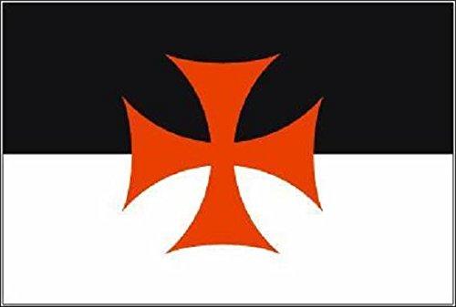 U24 Fahne Flagge Templer Bootsflagge Premiumqualität 80 x 120 cm