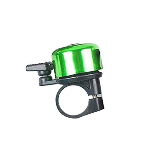 Fangjuhua Bell de la Bici Loud crujiente Sonido de Aluminio de aleación de Aluminio de aleación de Bicicleta de Ciclismo Anillo Ajustable de Accesorios de Hornos de Bicicletas, Verde