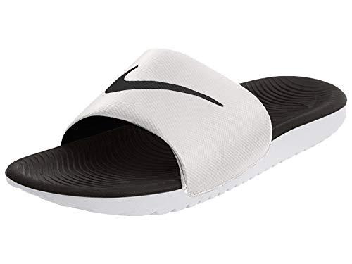 Nike Men's Kawa Slide Sandal, White/Black, 12 Regular US