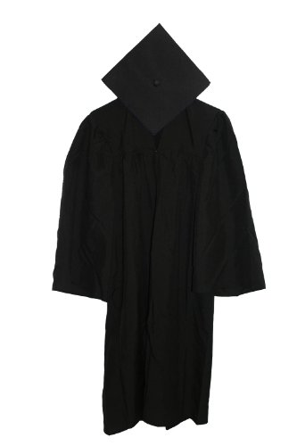 Economy Cap and Gown Matte Finish Cap and Gown 6'0-6'2 Black