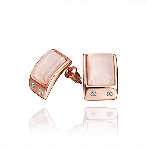 TIANYOU a Pair of Environmentally Friendly Rose Gold Jewelry Geometric Earrings Ladies/Stainless Steel/Hypoallergenic/Silver Glitter/Diamond/Small Exquisite/Gem Business