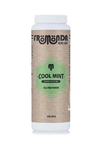 Fromonda Cooles Minze-Talk-Körper-Puder Mit Abkühlender Grüner Minze Und Teebaum-Ätherischen Ölen.