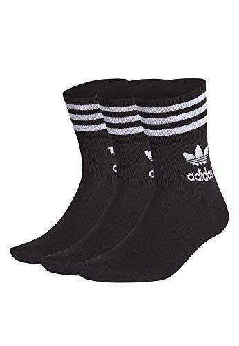 adidas Mid Cut CRW Sck Socks, Unisex Adulto, Black/White, M