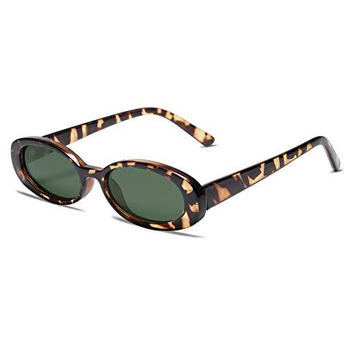 Gafas de sol retro vintage delgadas ovaladas para mujeres y hombres con marco estrecho VL9580