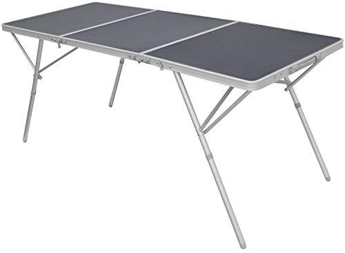 AMANKA Mesa de Camping XXL 180x70x70cm mobiliario de Acampada pícnic Plegable Estable portátil Aluminio Ligero Antracita